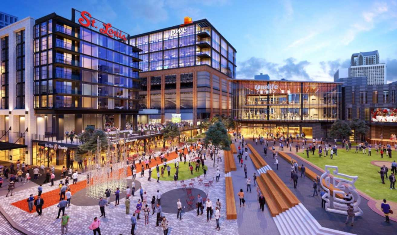 St. Louis's Ballpark Village Expansion Takes Shape