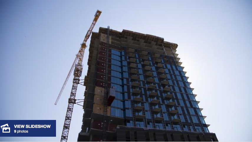 Cordish Cos.' Ballpark Village apartment tower inches closer to completion in St. Louis